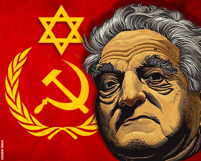 COMMIE-JEW-SOROS-LINE-ART